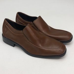 APT 9 Mens Brown Dress Loafers Shoes 8.5